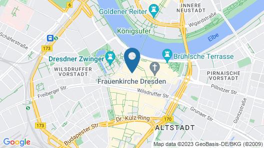 Hyperion Hotel Dresden Am Schloss Map