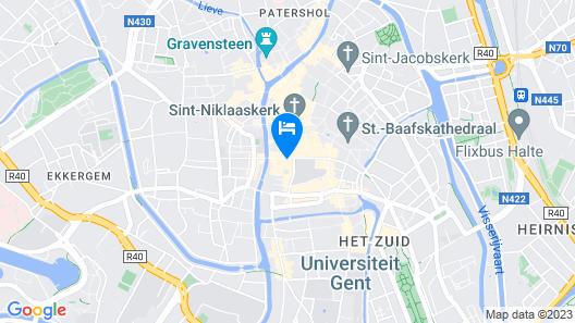 B&B Hotel Gent Centrum Map