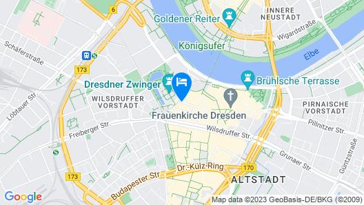 Hotel Taschenbergpalais Kempinski Dresden Map