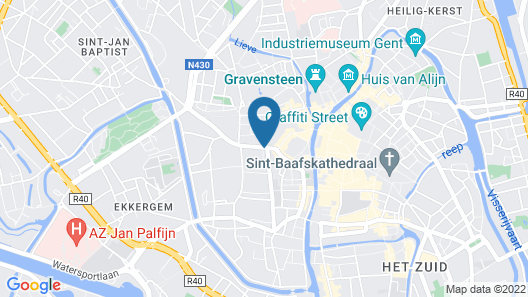Pillows Grand Boutique Hotel Reylof Ghent Map