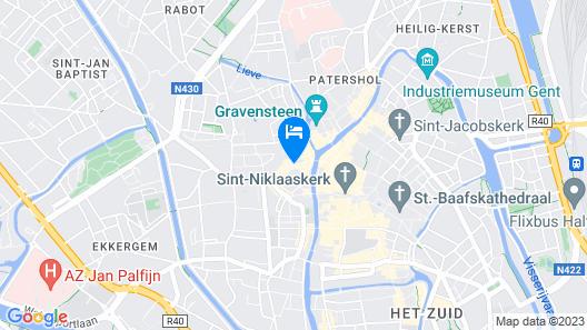 Ghent Marriott Hotel Map