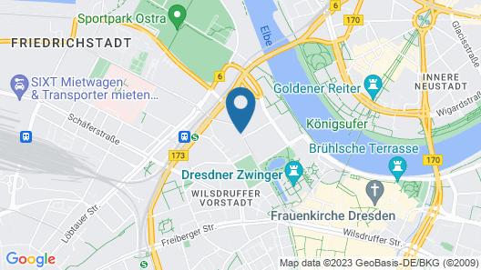 Holiday Inn Dresden - Am Zwinger Map