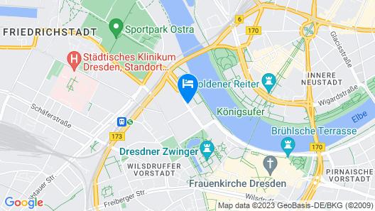 Maritim Hotel & Internationales Congress Center Dresden Map