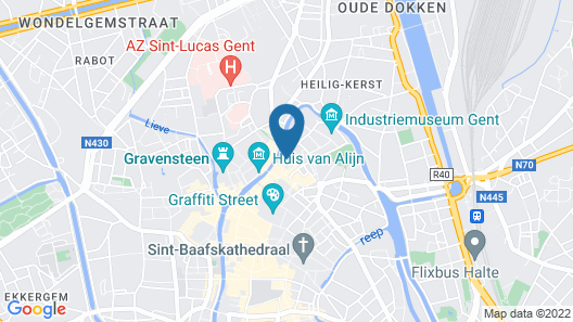 Ghent River Hotel Map