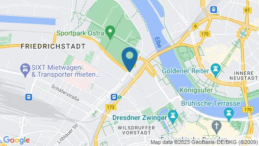 Leonardo Hotel Dresden Altstadt Map