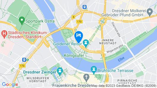Bilderberg Bellevue Hotel Dresden Map
