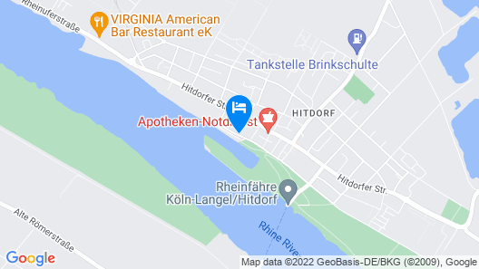 RheinRiver Guesthouse - Boutique Art Hotel am Rhein Map