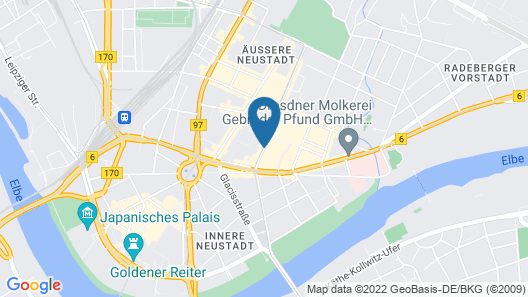 Cityhotel Stadt Dresden Map