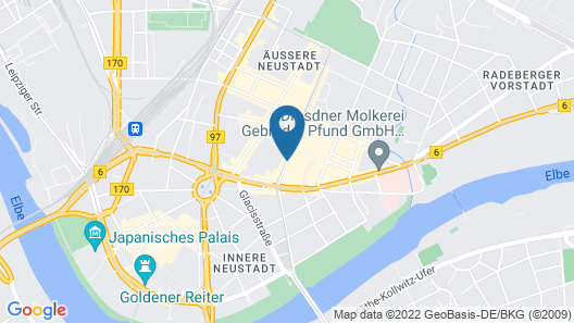 Hotel & City Appartements Rothenburger Hof Map
