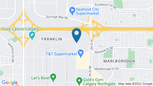 Best Western Premier Calgary Plaza Hotel & Conference Centre Map
