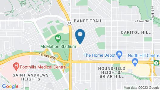 Aloft Calgary University Map