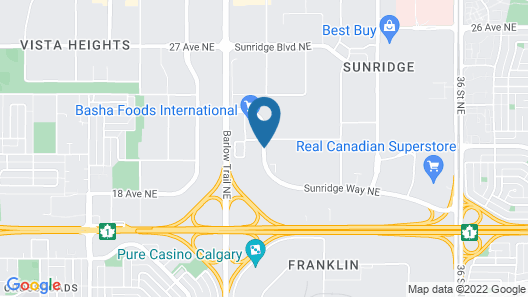 Four Points by Sheraton Calgary Airport Map