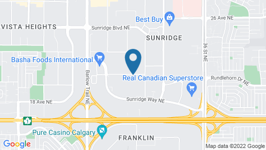 Days Inn by Wyndham Calgary Airport Map