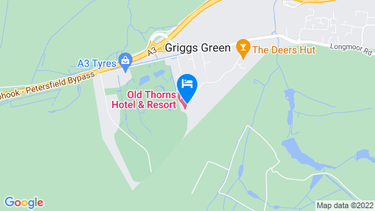 Old Thorns Manor Hotel Map