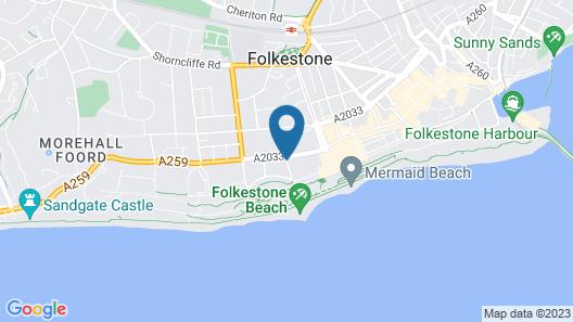 View Hotel Folkestone Map