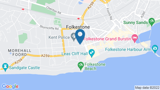 Bouverie Escape Folkestone Map
