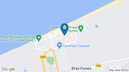 Nice Apartment on the Edge of the Center of Bray-dunes Map