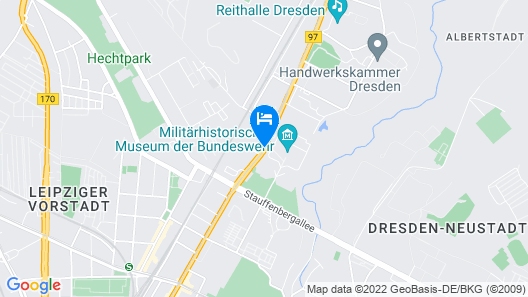 Quality Hotel Plaza Dresden Map