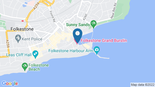 Grand Burstin Hotel Folkestone Map