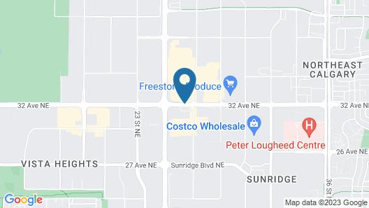 Sheraton Cavalier Calgary Hotel Map
