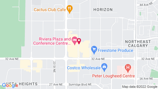 Riviera Plaza and Conference Centre Calgary Airport Map