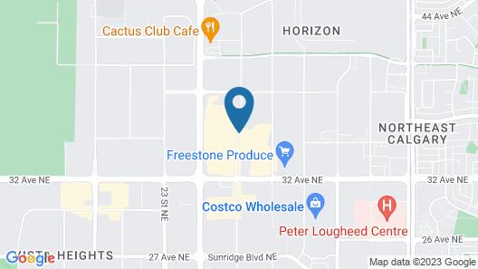 Riviera Hotel Calgary Airport Map