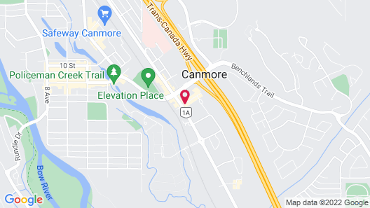Coast Canmore Hotel & Conference Centre Map