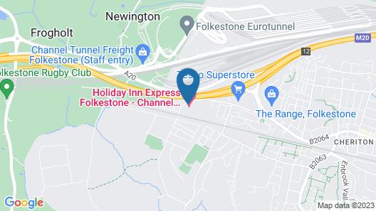 Holiday Inn Express Folkestone - Channel Tunnel, an IHG Hotel Map