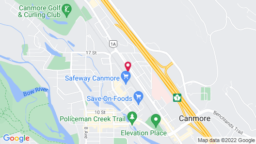 Super 8 by Wyndham Canmore Map
