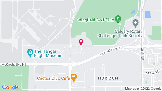 Courtyard by Marriott Calgary Airport Map