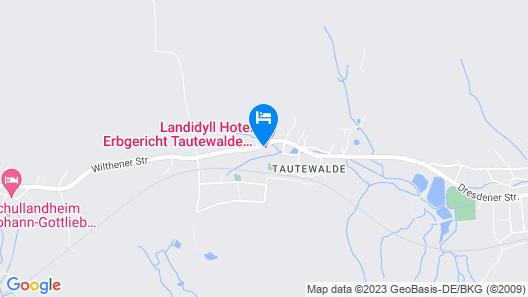 Landidyll Hotel Erbgericht Tautewalde Map