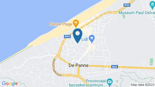 Parkhotel - De Panne Map
