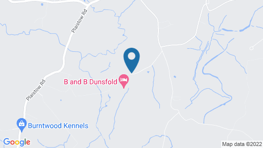 Bed and Breakfast Dunsfold Map