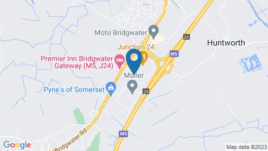 Holiday Inn Express Bridgwater M5, Jct. 24 Map