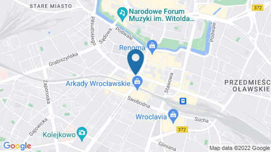 Scandic Wroclaw Map