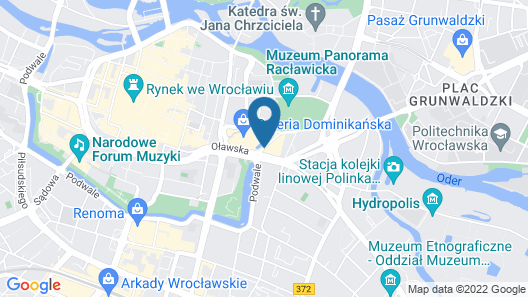 DoubleTree by Hilton Hotel Wroclaw Map