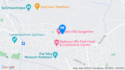 Hotel Villa Sorgenfrei & Restaurant Atelier Sanssouci Map