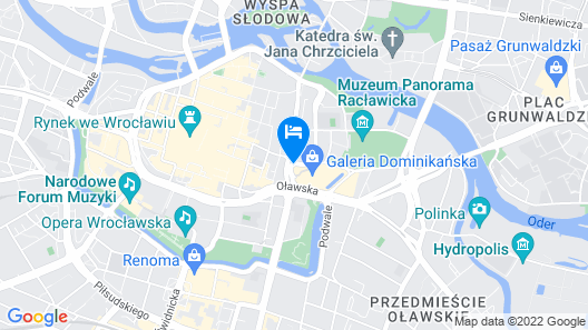 Hotel Mercure Wroclaw Centrum Map