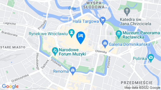 Korona Hotel Wroclaw Market Square Map