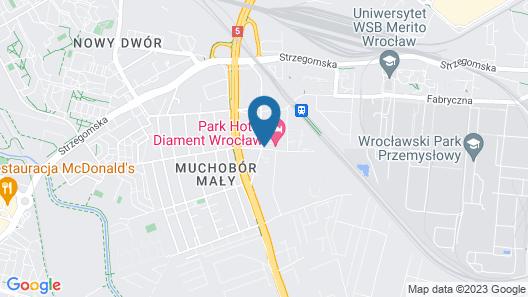 Park Hotel Diament Wroclaw Map