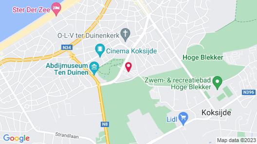 Chalets Eureka & Bloemenduin Koksijde Map