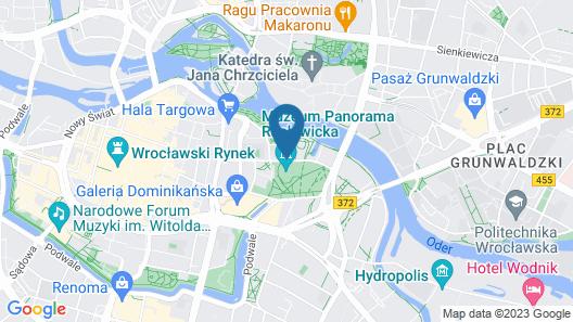 Radisson Blu Hotel, Wroclaw Map