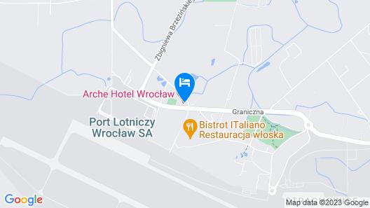 Arche Hotel Wrocław Airport Map