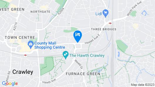 Holiday Inn Express London Gatwick - Crawley Map
