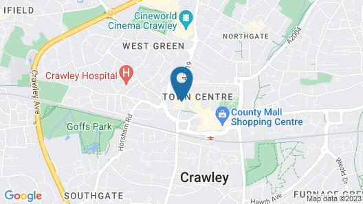 Ramada by Wyndham Crawley Gatwick Map