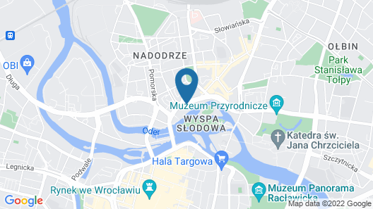 Hotel HP Park Plaza Wroclaw Map