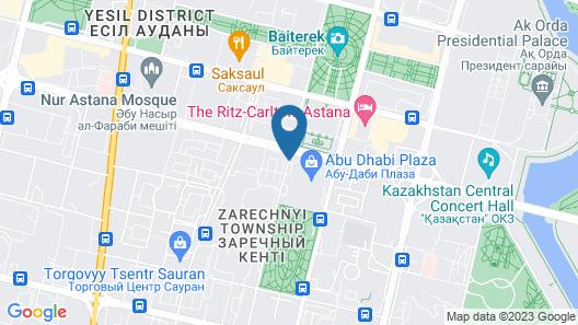 Sheraton Nur-Sultan Hotel Map