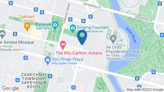 Best Western Plus Astana Map