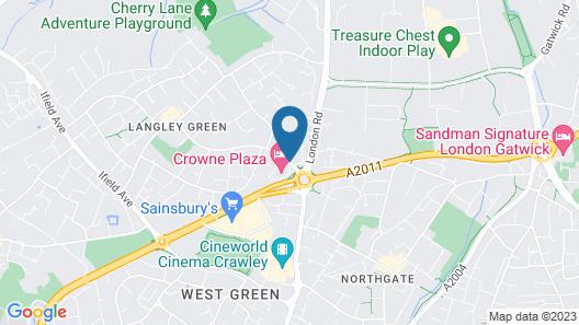 Crowne Plaza London- Gatwick Airport Map