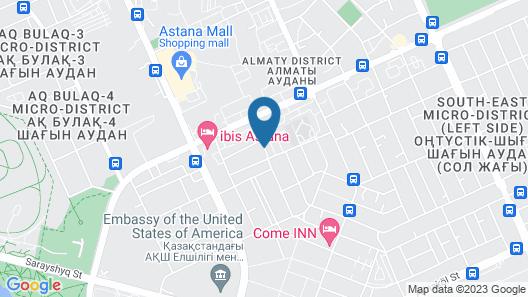 Kazzhol Hotel Astana Map